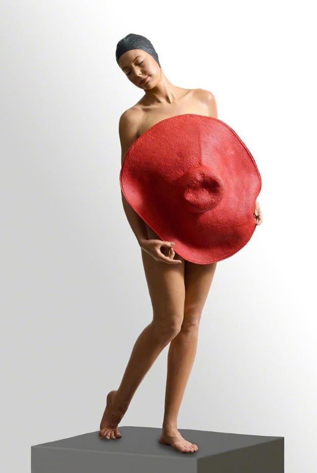 "Кэрол Фейерман (Carole A. Feuerman) ""Girl with the Red Hat"""