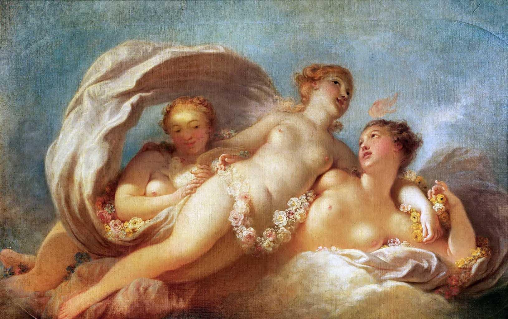 "Жан Оноре Фрагонар (Jean Honore Fragonard), ""Три грации"""
