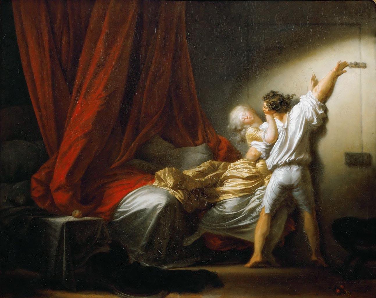 "Жан Оноре Фрагонар (Jean Honore Fragonard), ""Задвижка"""