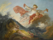 "Жан Оноре Фрагонар (Jean Honore Fragonard), ""Аврора, торжествующая над Ночью"""