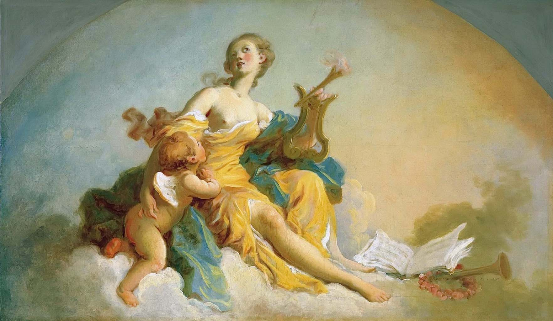 """Жан Оноре Фрагонар (Jean Honore Fragonard), """"Аллегория музыки"""""""