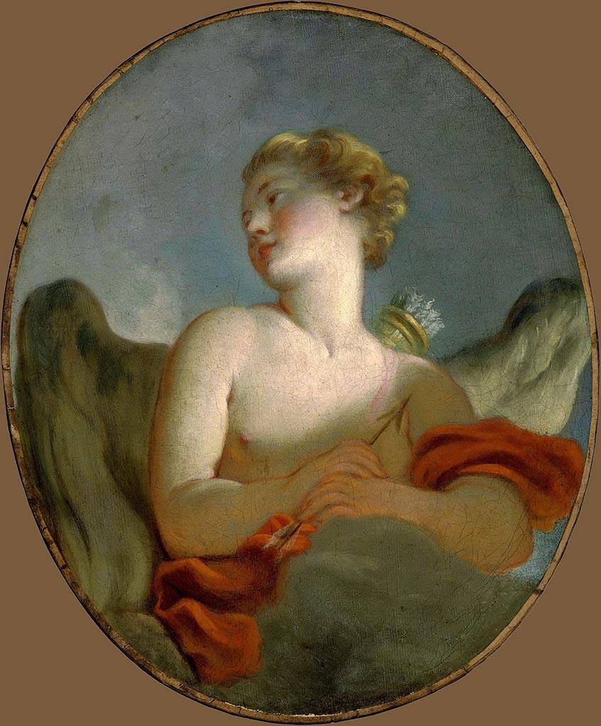 "Жан Оноре Фрагонар (Jean Honore Fragonard), ""Мари-Катрин Ромбоколи-Риджери Коломб в образе Амура"""
