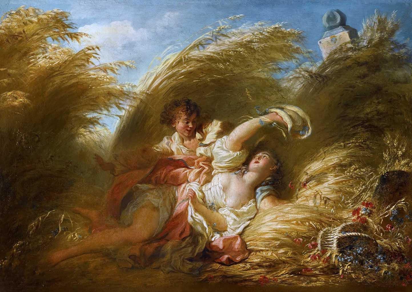 """Жан Оноре Фрагонар (Jean Honore Fragonard), """"В пшенице"""""""