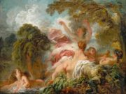 "Жан Оноре Фрагонар (Jean Honore Fragonard), ""The Bathers"""