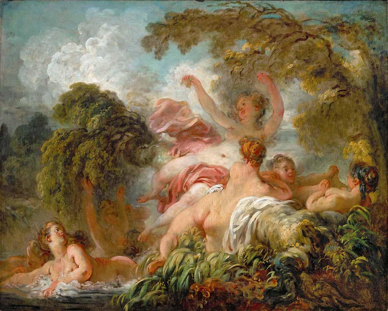 """Жан Оноре Фрагонар (Jean Honore Fragonard), """"The Bathers"""""""