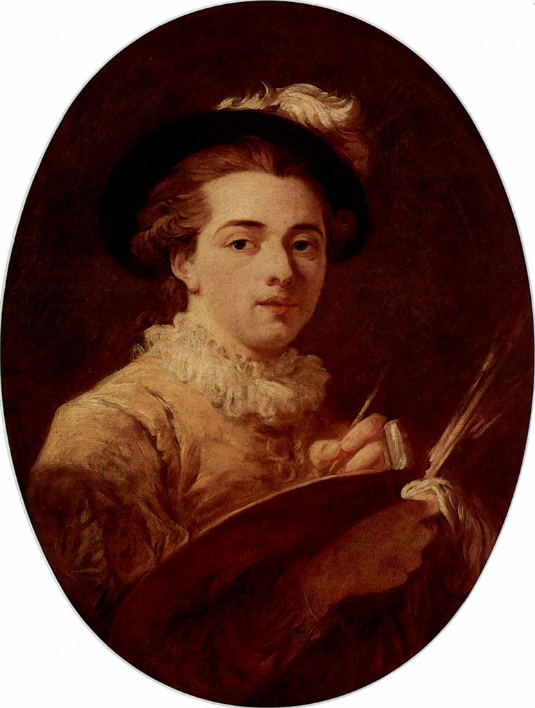 "Жан Оноре Фрагонар (Jean Honore Fragonard), ""Self-portrait"""
