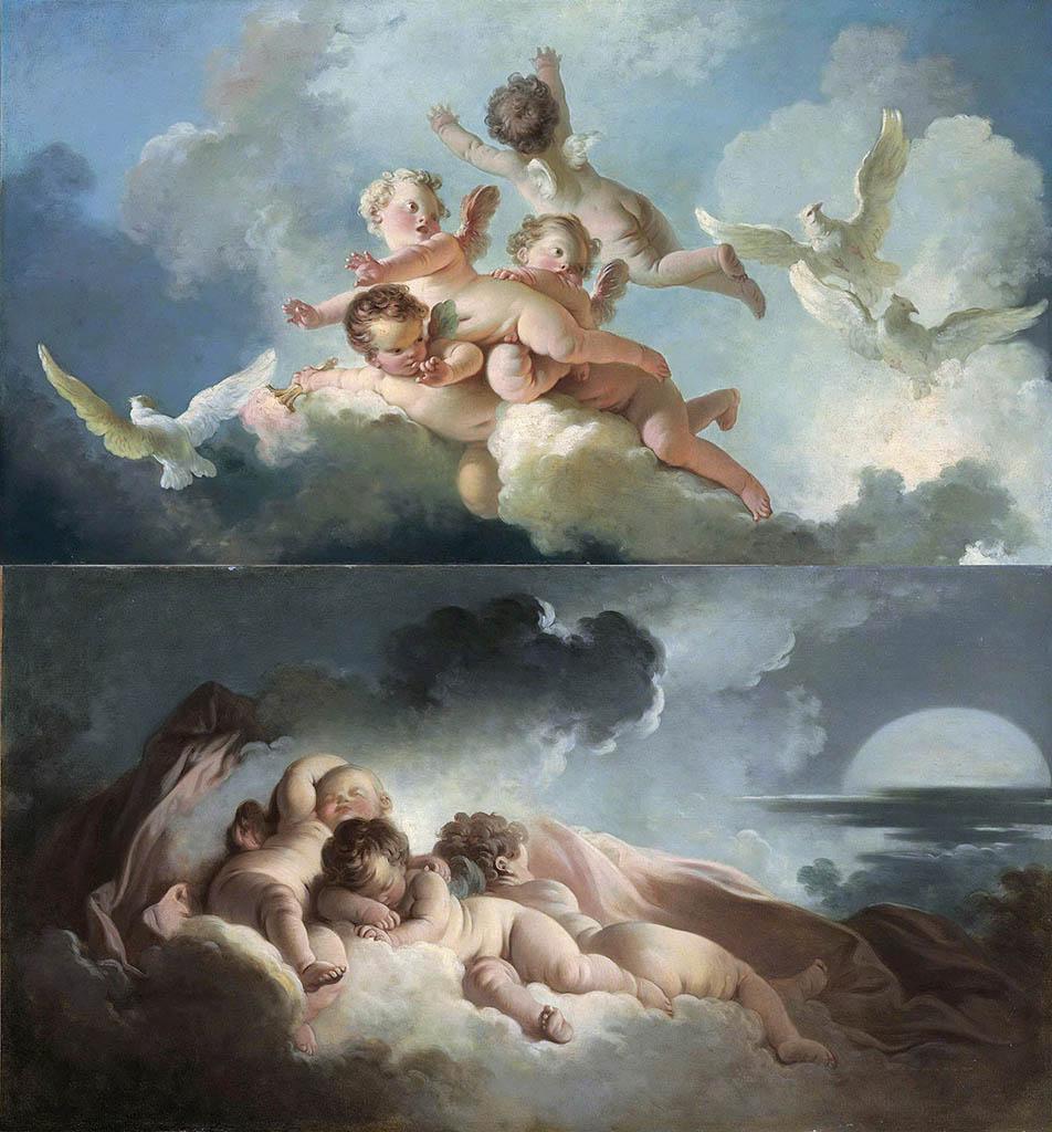 "Жан Оноре Фрагонар (Jean Honore Fragonard), ""Аллегория дня и ночи"""
