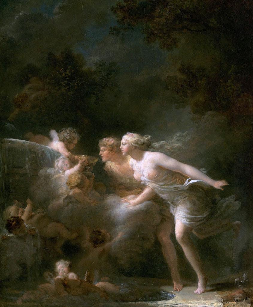 """Жан Оноре Фрагонар (Jean Honore Fragonard), """"The Fountain of Love"""""""