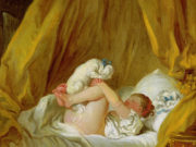 "Жан Оноре Фрагонар (Jean Honore Fragonard), ""Girl with a Dog"""