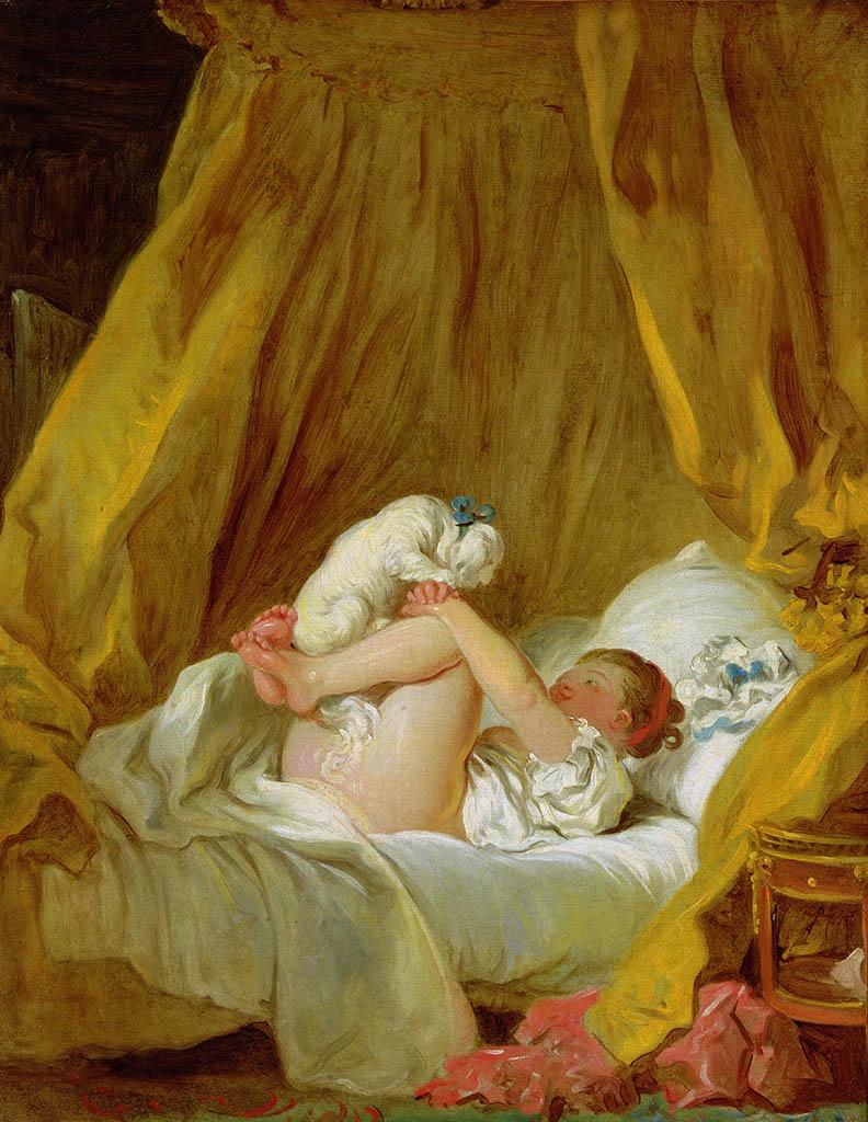 """Жан Оноре Фрагонар (Jean Honore Fragonard), """"Girl with a Dog"""""""