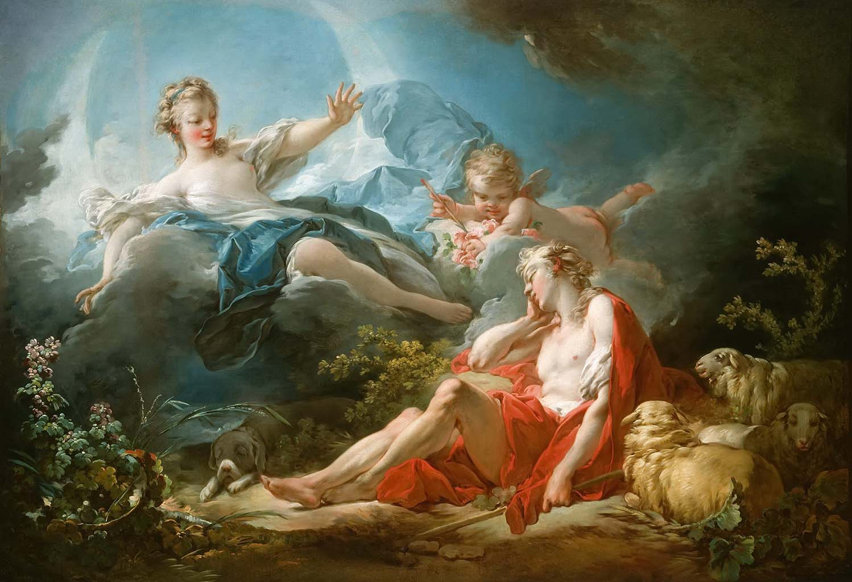 """Жан Оноре Фрагонар (Jean Honore Fragonard), """"Diana and Endymion"""""""