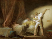 "Жан Оноре Фрагонар (Jean Honore Fragonard), ""Задвижка (этюд)"""