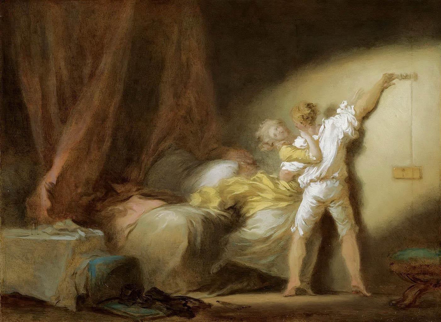 "Жан Оноре Фрагонар (Jean Honore Fragonard), ""Задвижка (этюд)"""