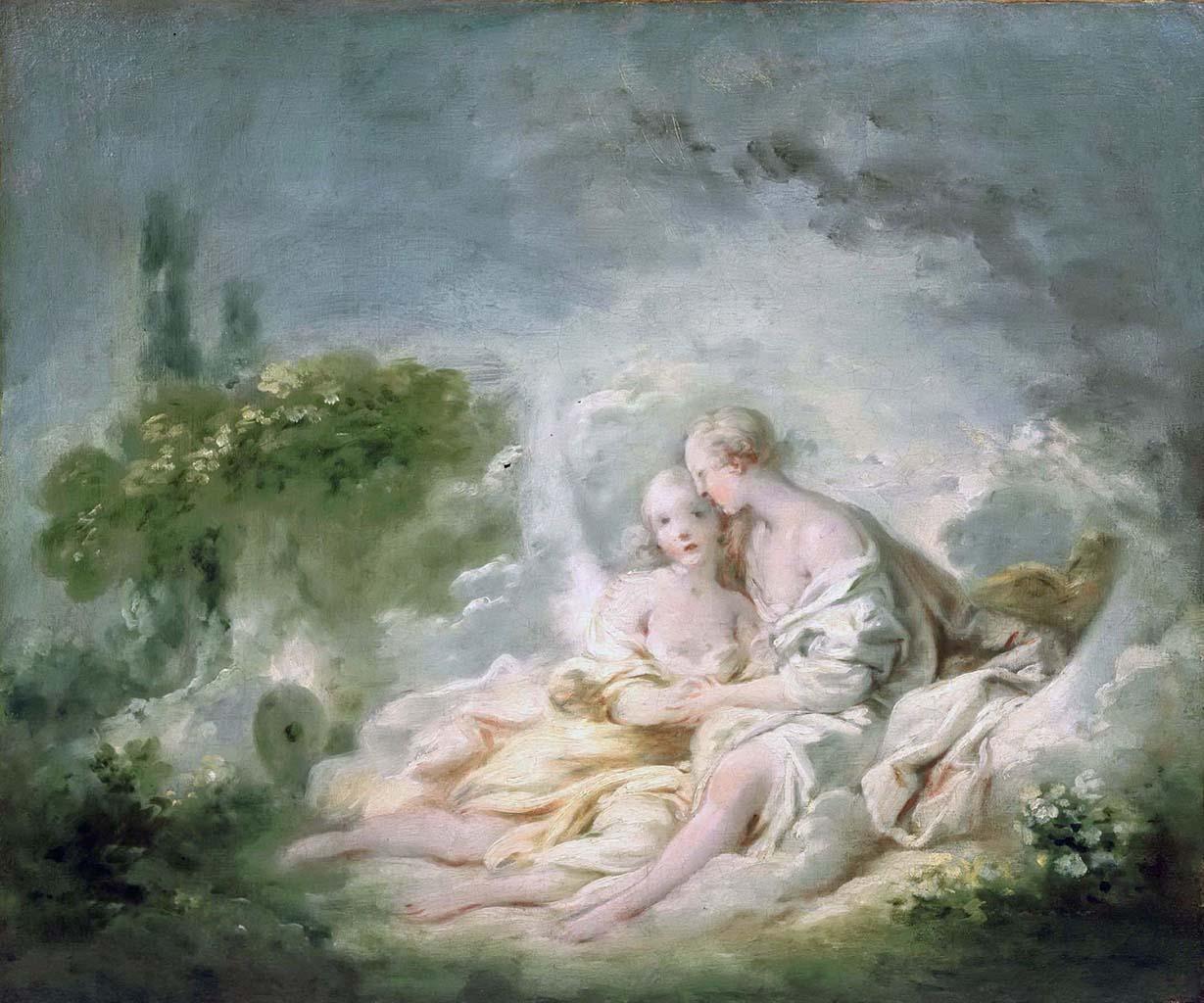 "Жан Оноре Фрагонар (Jean Honore Fragonard), ""Юпитер и Каллисто"""