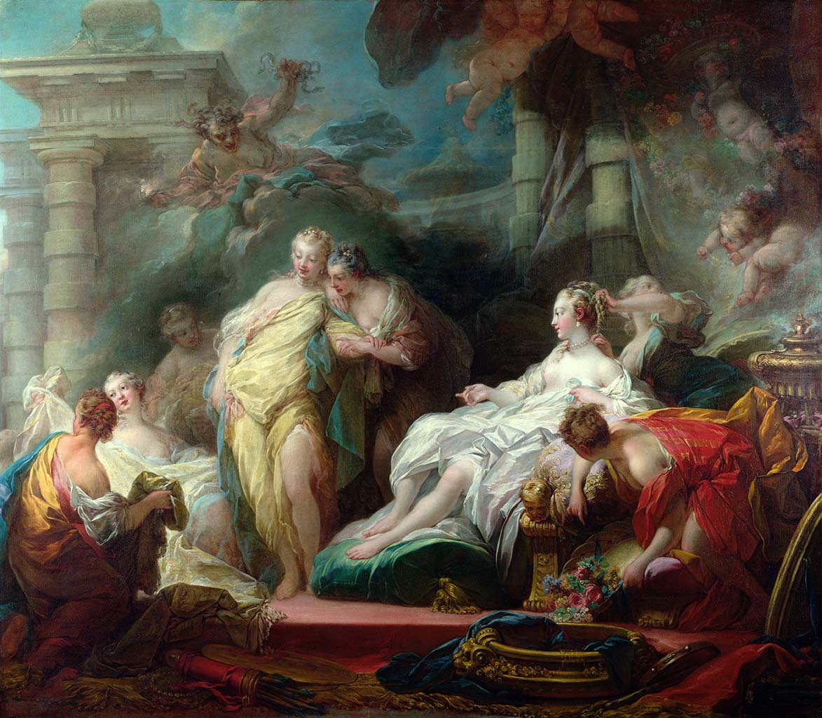 "Жан Оноре Фрагонар (Jean Honore Fragonard), ""Психея показывает своим сестрам дары Купидона"""