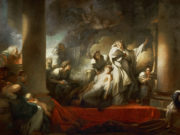 "Жан Оноре Фрагонар (Jean Honore Fragonard), ""The High Priest Coresus Sacrificing Himself to Save Callirhoe"""