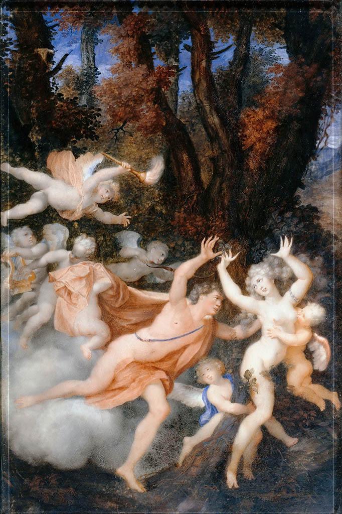 """Жан Оноре Фрагонар (Jean Honore Fragonard), """"Аполлон и Дафна"""""""