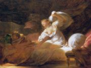 "Жан Оноре Фрагонар (Jean Honore Fragonard), ""The fight unnecessary"""