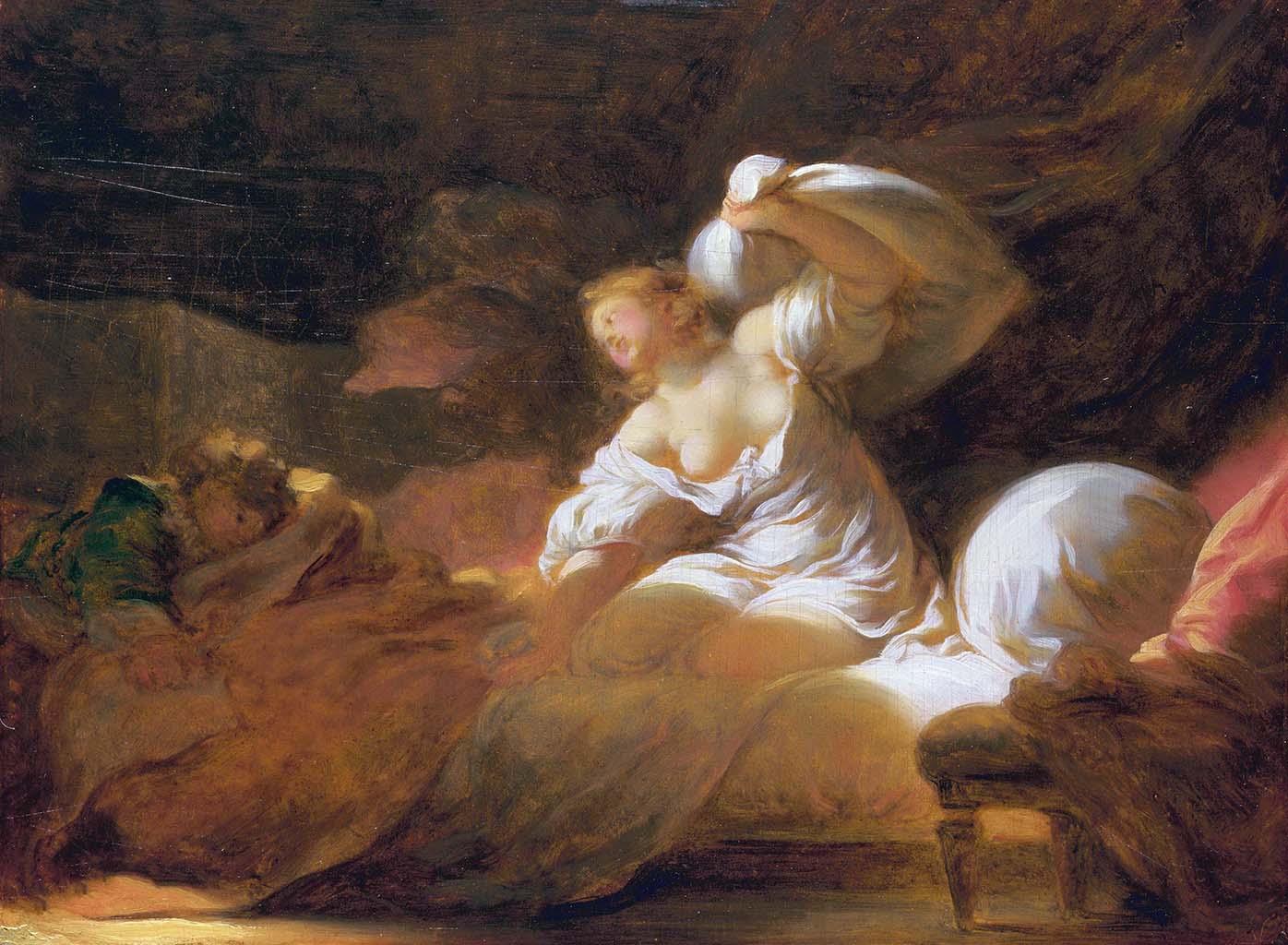 "Жан Оноре Фрагонар (Jean Honore Fragonard), ""The fight unnecessary"""