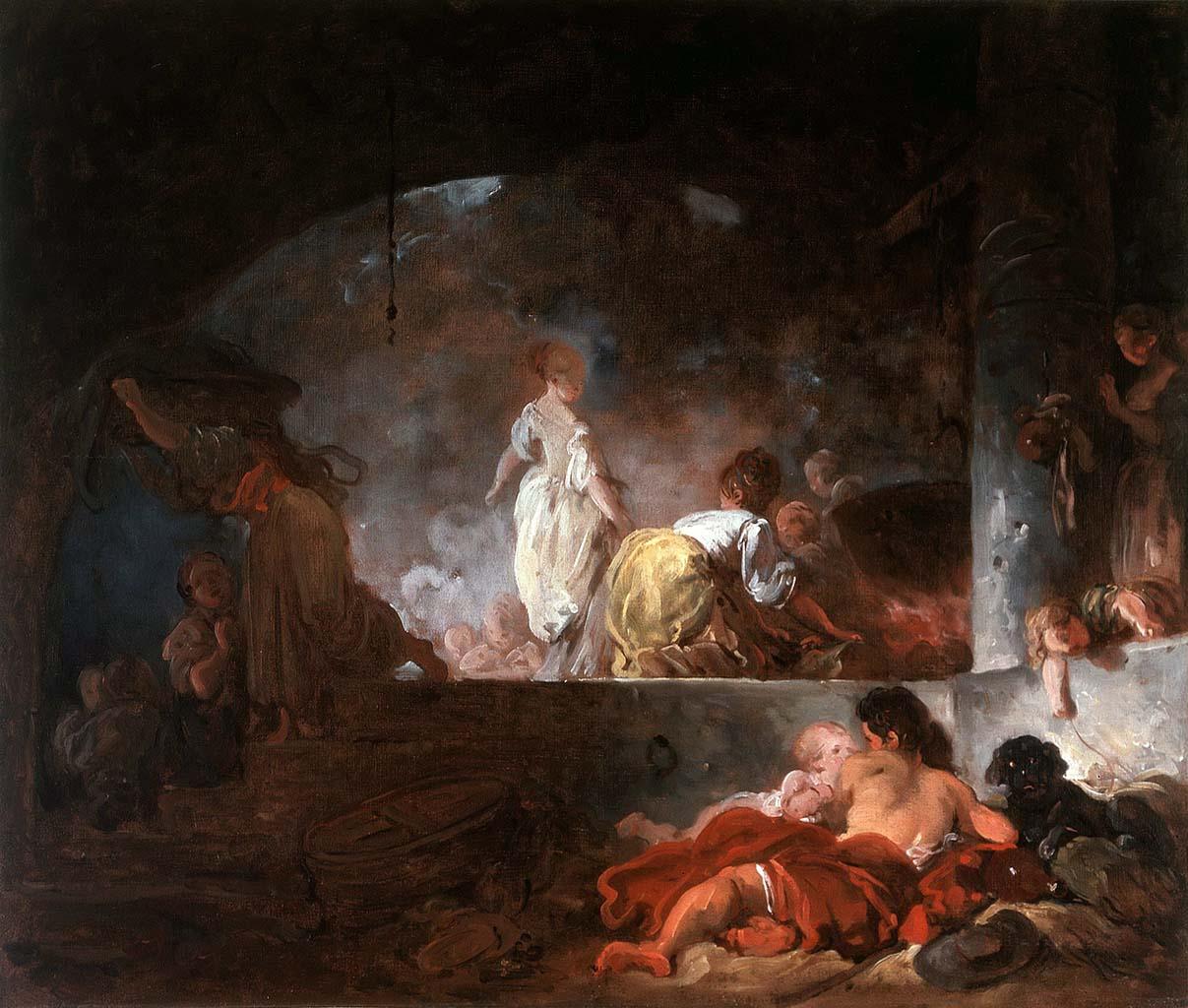 "Жан Оноре Фрагонар (Jean Honore Fragonard), ""The Laundresses"""