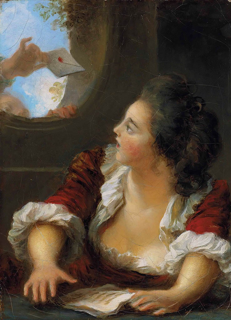 "Жан Оноре Фрагонар (Jean Honore Fragonard), ""Love Letter"""