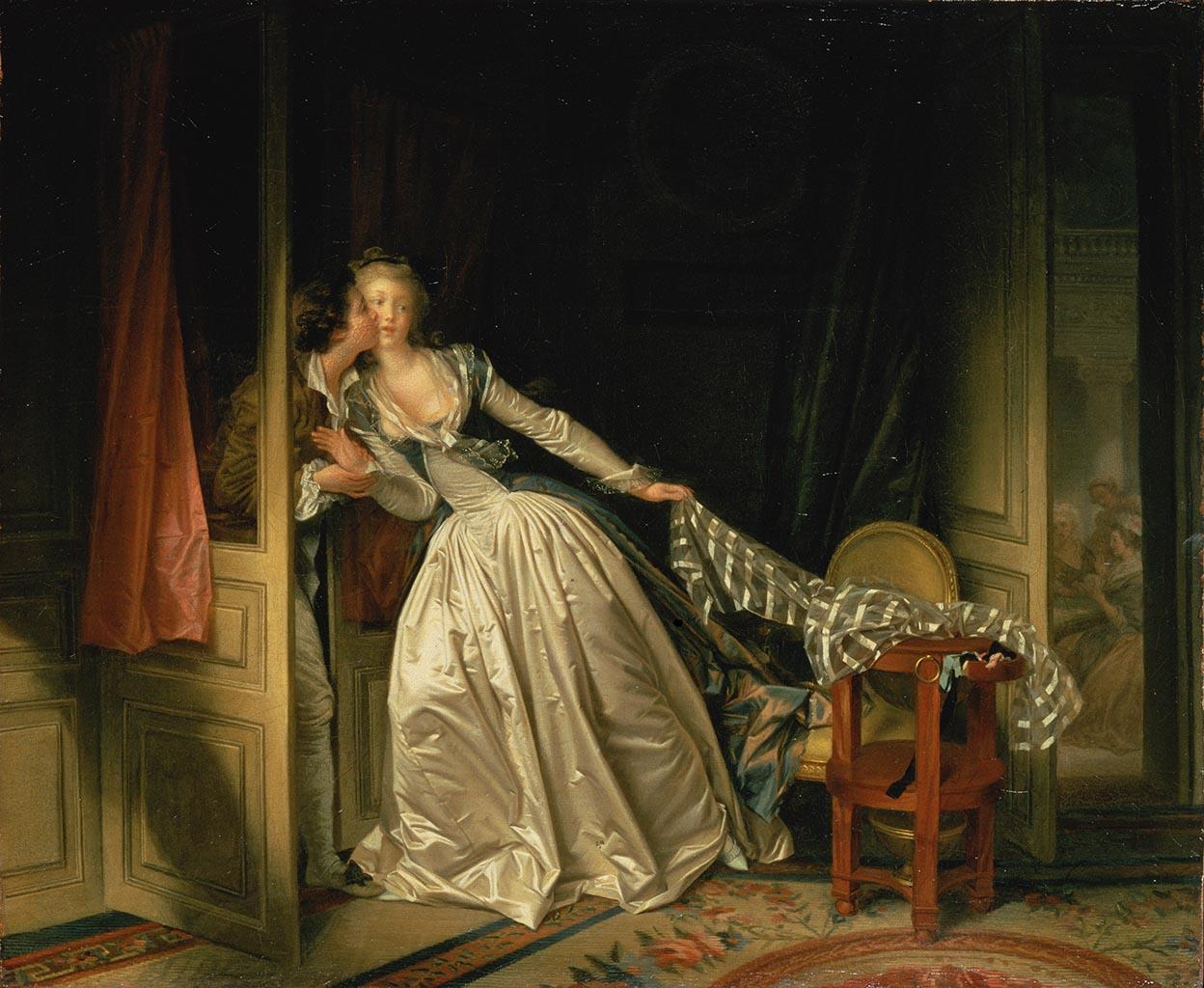 "Жан Оноре Фрагонар (Jean Honore Fragonard), ""The Stolen Kiss"""