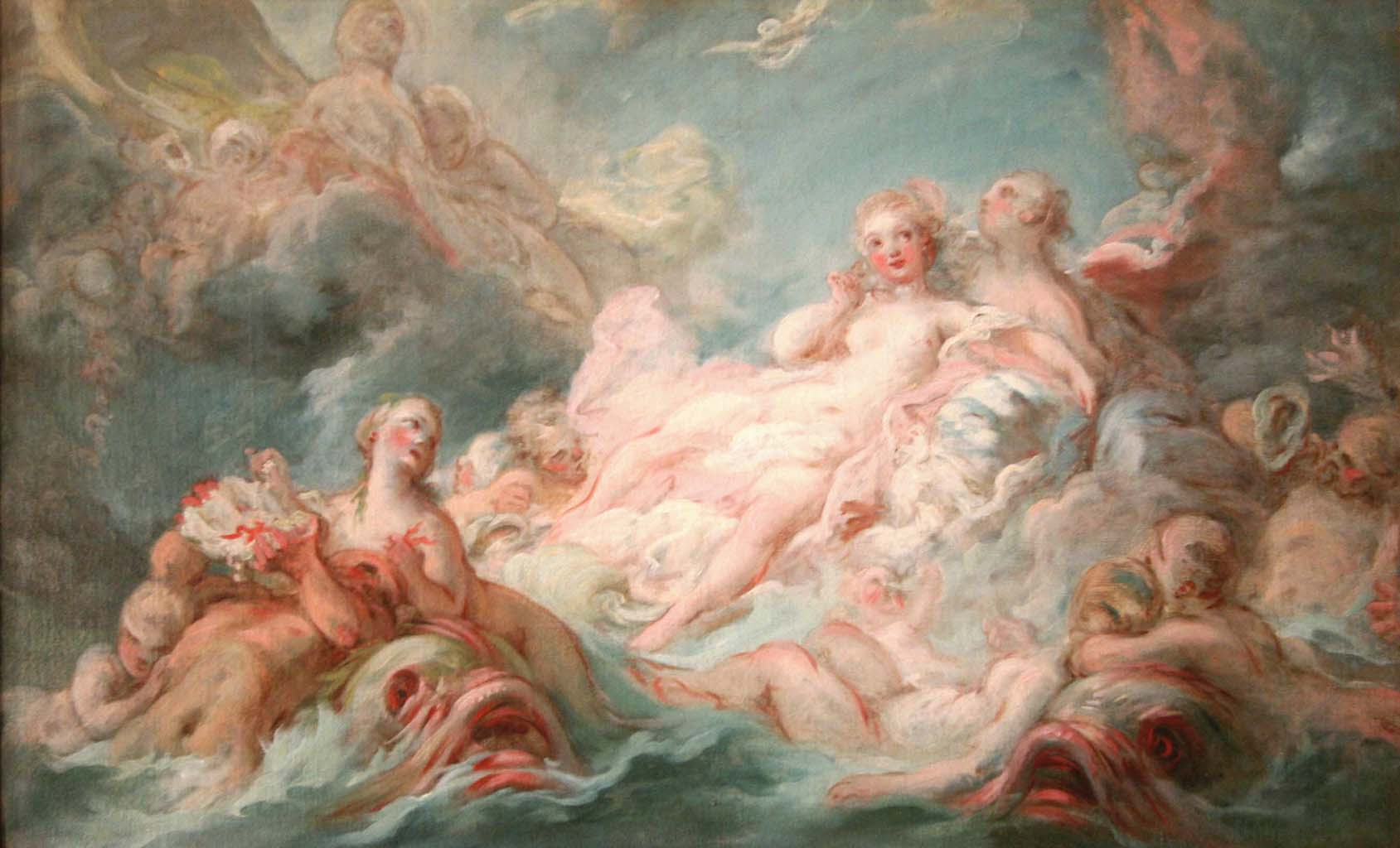 "Жан Оноре Фрагонар (Jean Honore Fragonard), ""The Birth of Venus"""