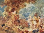 "Жан Оноре Фрагонар (Jean Honore Fragonard), ""Rinaldo in the garden of the palace of Armida"""