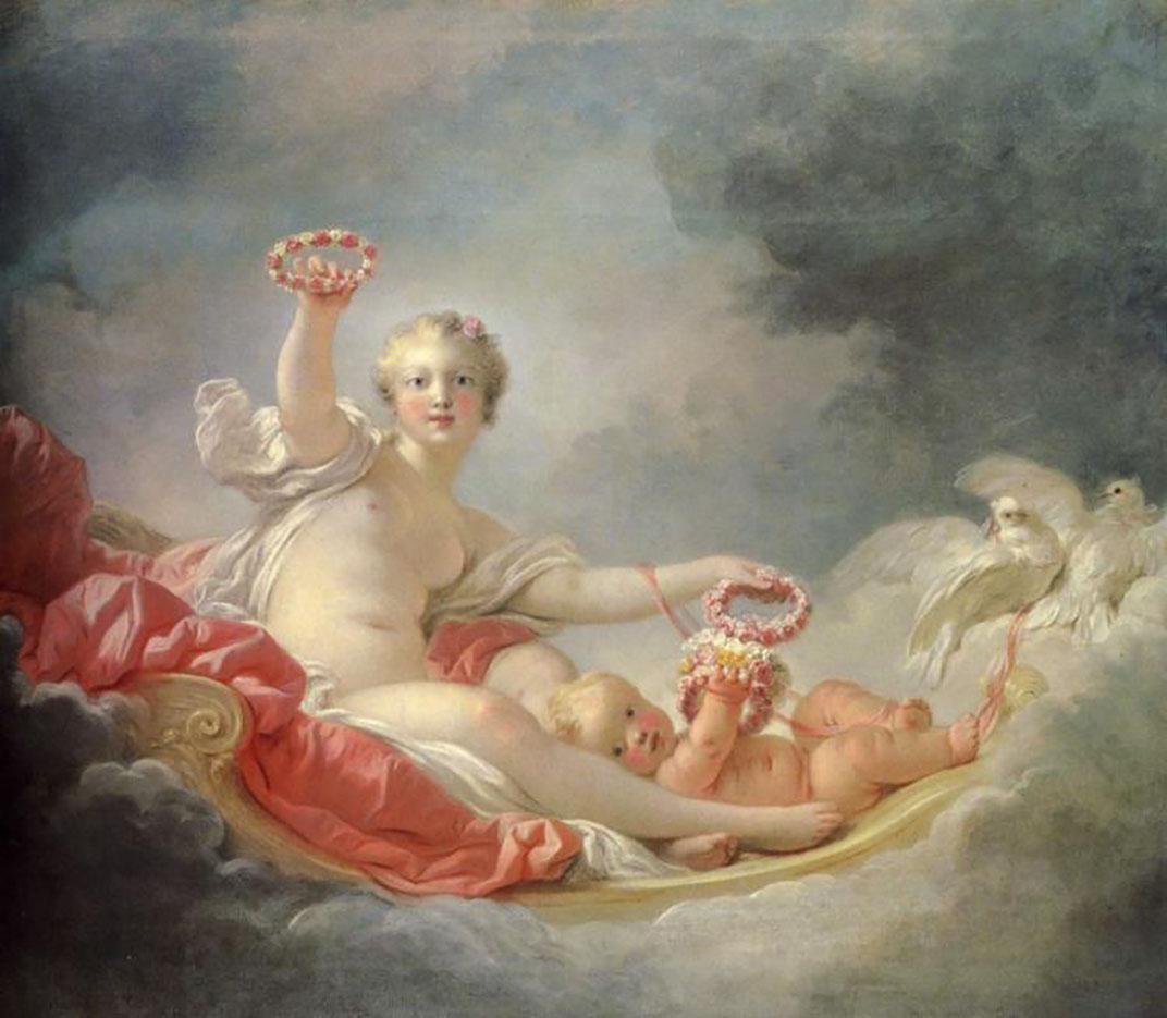 """Жан Оноре Фрагонар (Jean Honore Fragonard), """"Venus and Cupid (The Day)"""""""