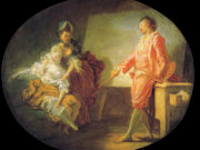 "Жан Оноре Фрагонар (Jean Honore Fragonard), ""Les debuts du modele"""