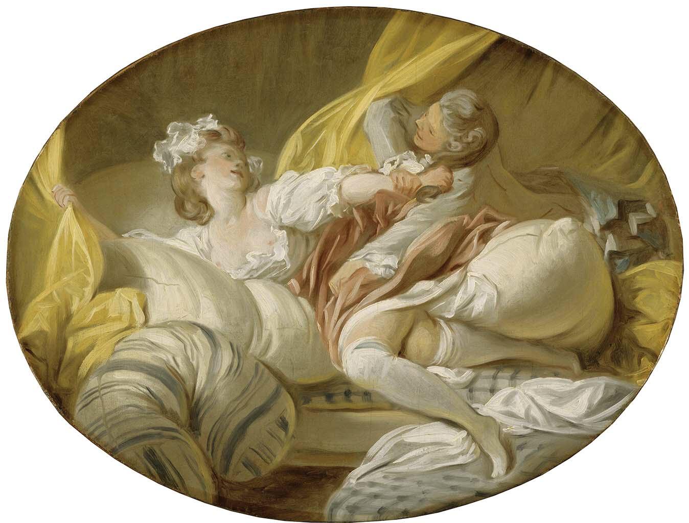 "Жан Оноре Фрагонар (Jean Honore Fragonard), ""The Beautiful Servant"""