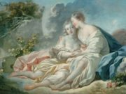 "Жан Оноре Фрагонар (Jean Honore Fragonard), ""Jupiter seduisant Callisto"""