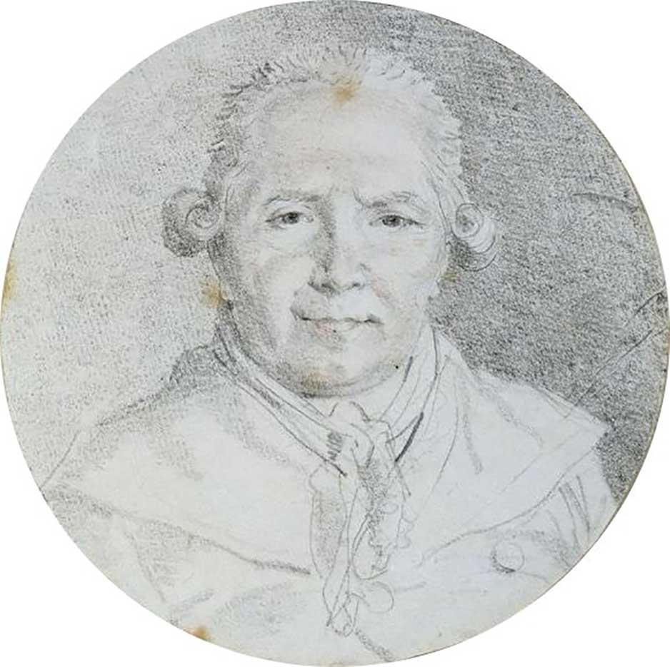 "Жан Оноре Фрагонар (Jean Honore Fragonard), ""Autoportrait"""