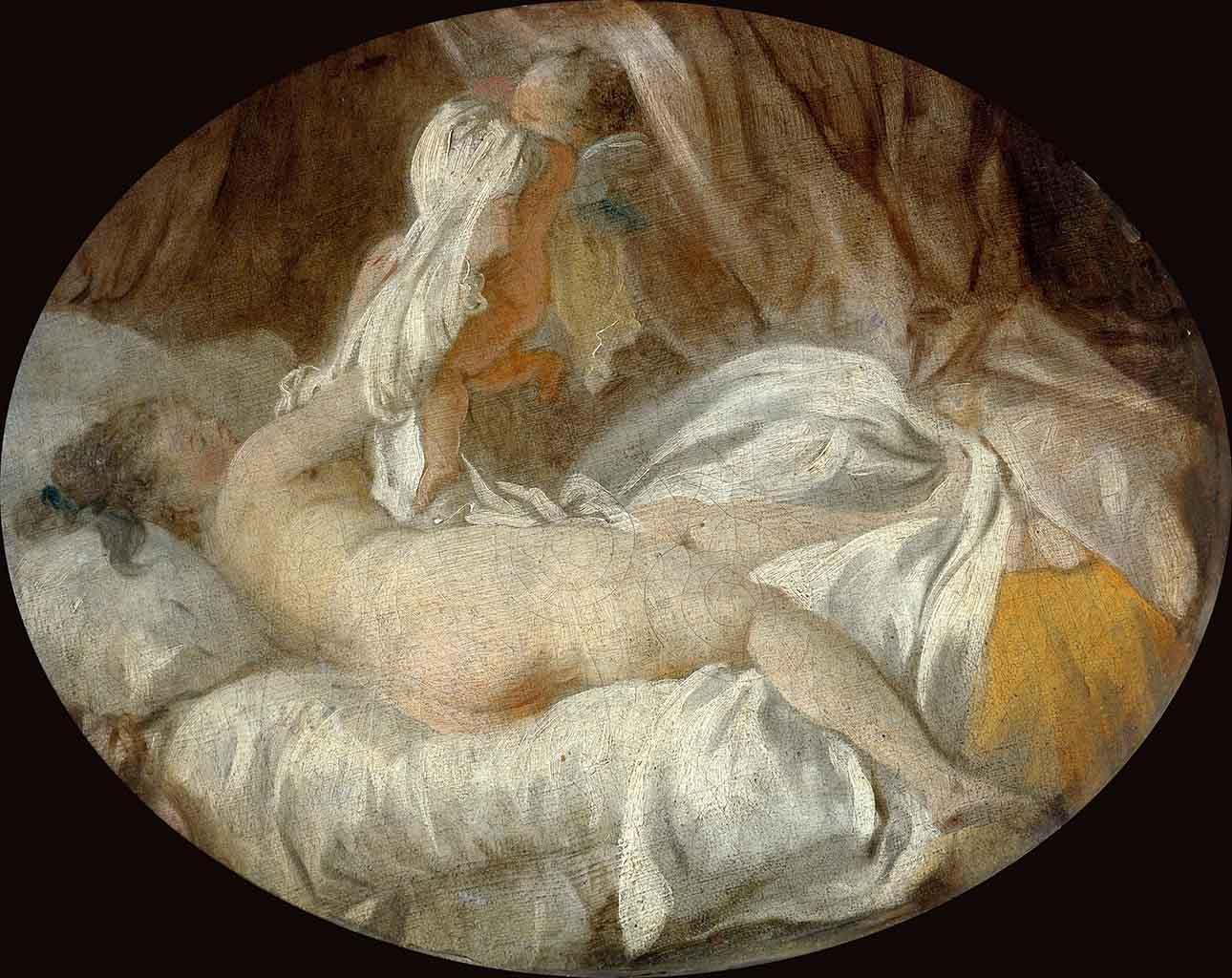 "Жан Оноре Фрагонар (Jean Honore Fragonard), ""Похищение рубашки Амуром"""