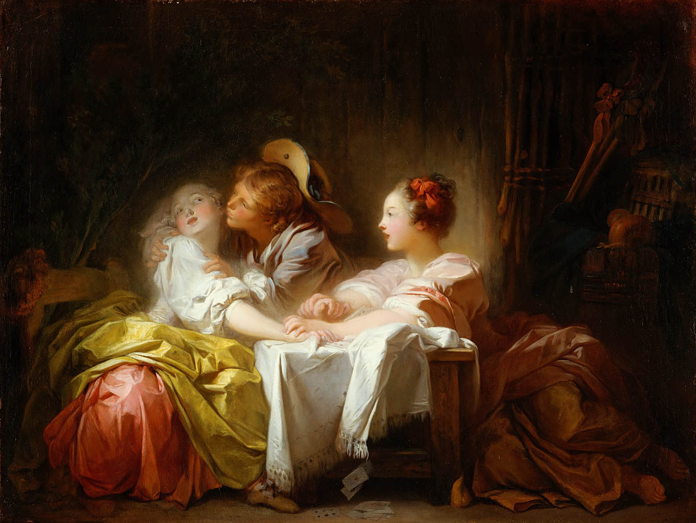 "Жан Оноре Фрагонар (Jean Honore Fragonard), ""Выигранный поцелуй"""