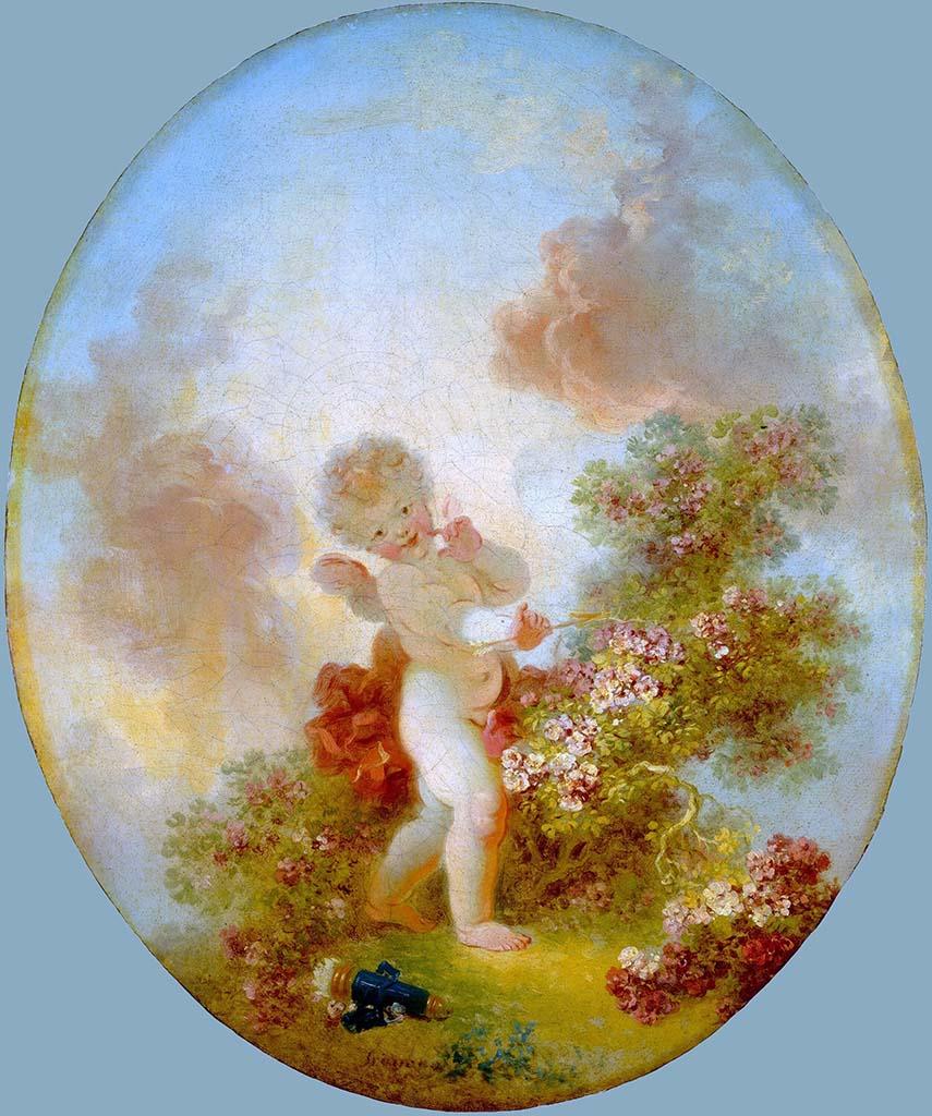 "Жан Оноре Фрагонар (Jean Honore Fragonard), ""Страж любви"""