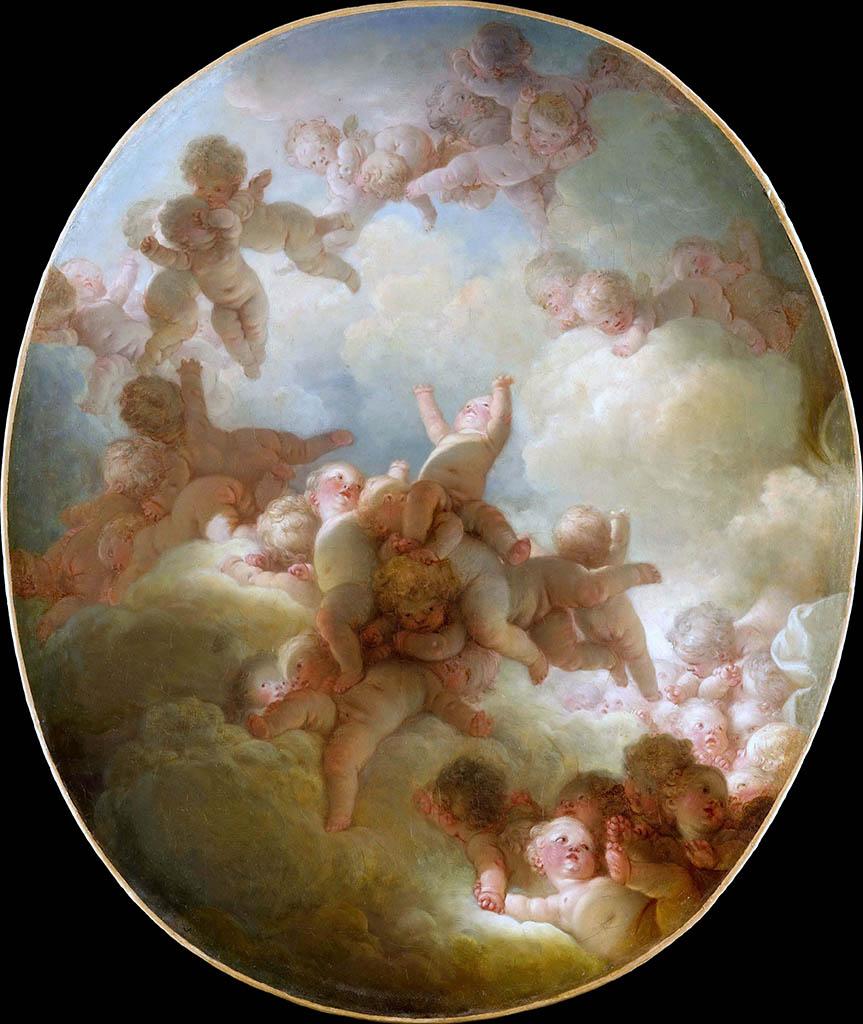 "Жан Оноре Фрагонар (Jean Honore Fragonard), ""Парад Амуров"""