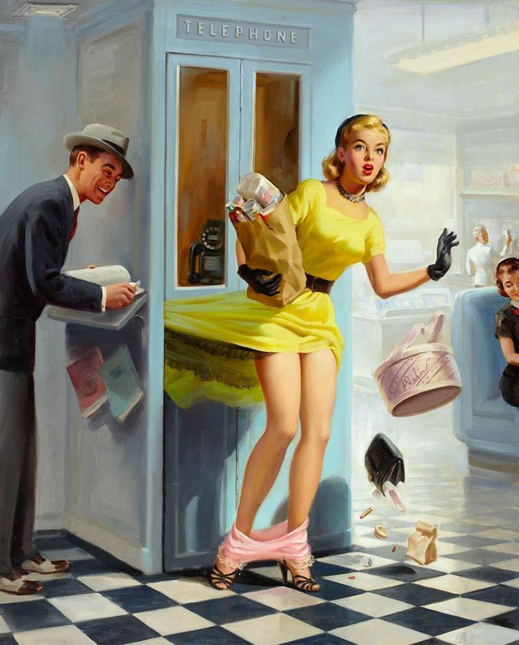 """Арт Фрам (Art Frahm), """"Дамы в беде"""", Падающие трусики - 2"""