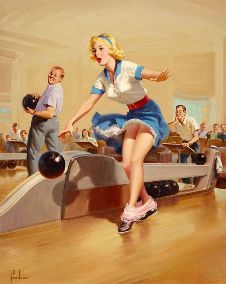 """Арт Фрам (Art Frahm), """"Дамы в беде"""" Падающие трусики - 4"""