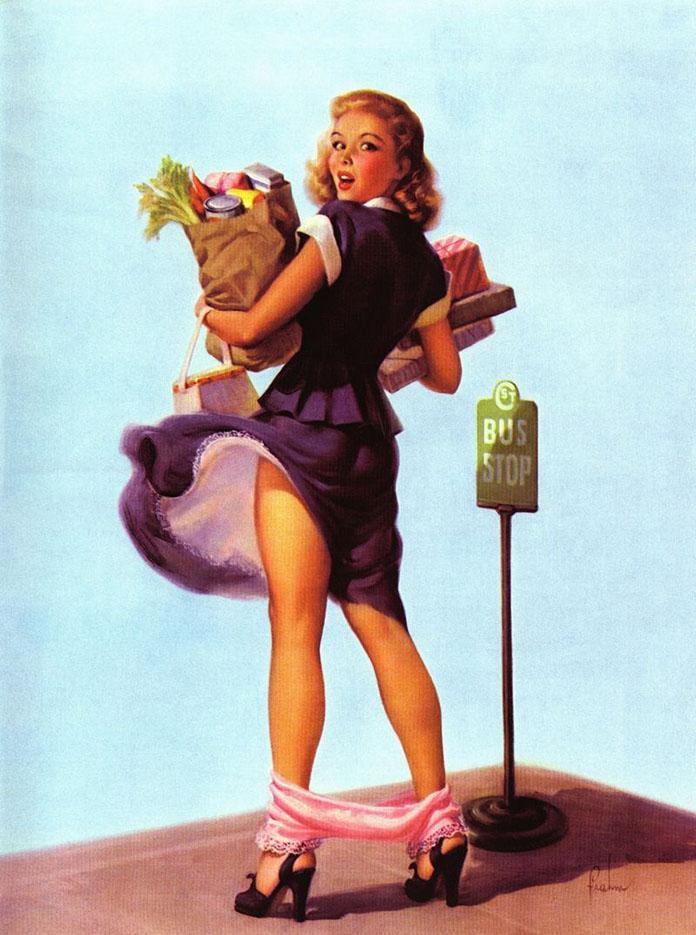 """Арт Фрам (Art Frahm), """"Дамы в беде"""" Падающие трусики - 6"""