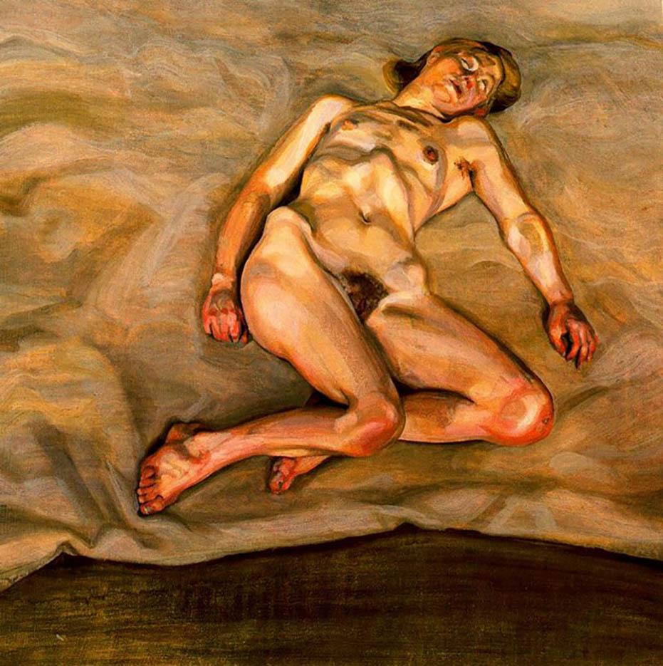 "Люсьен Фрейд (Lucian Freud), ""Naked Girl Asleep I"""