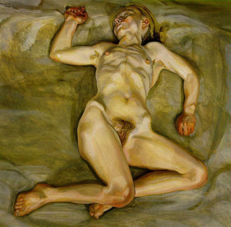 "Люсьен Фрейд (Lucian Freud), ""Спящая обнаженная девушка II"""