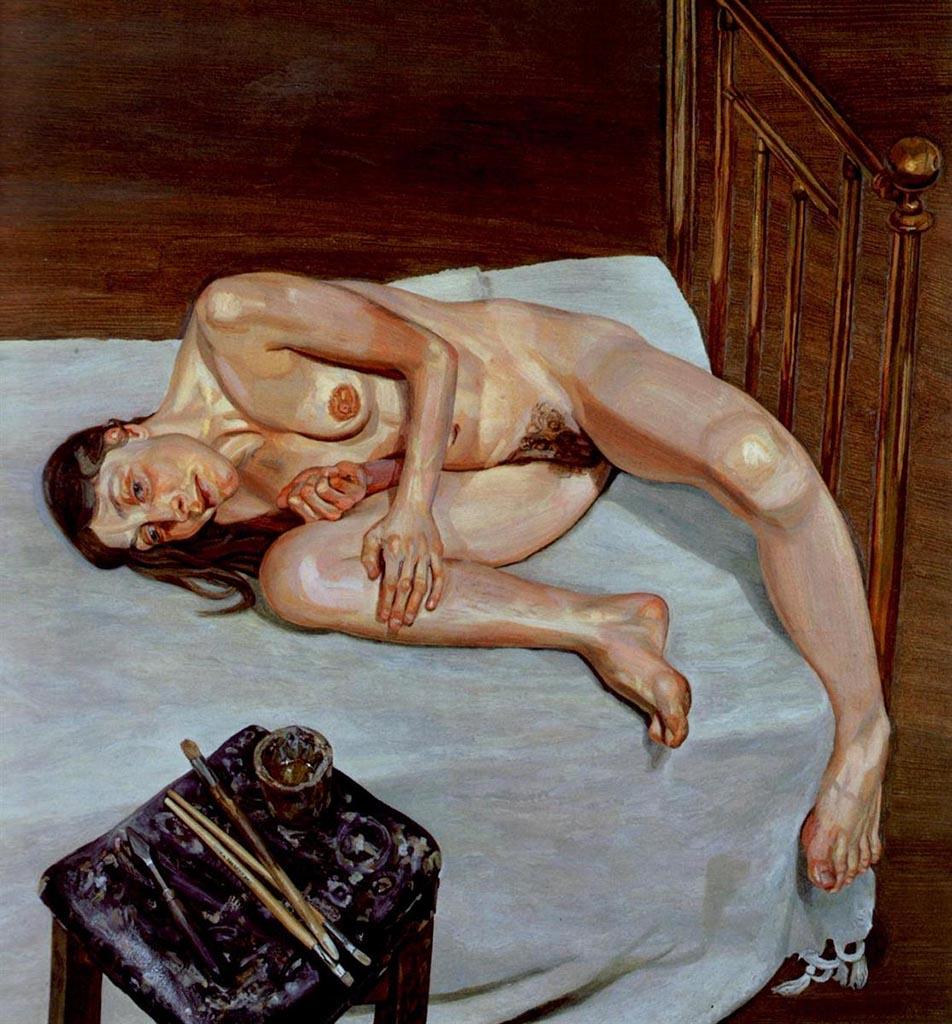 """Люсьен Фрейд (Lucian Freud), """"Портрет обнаженной"""""""