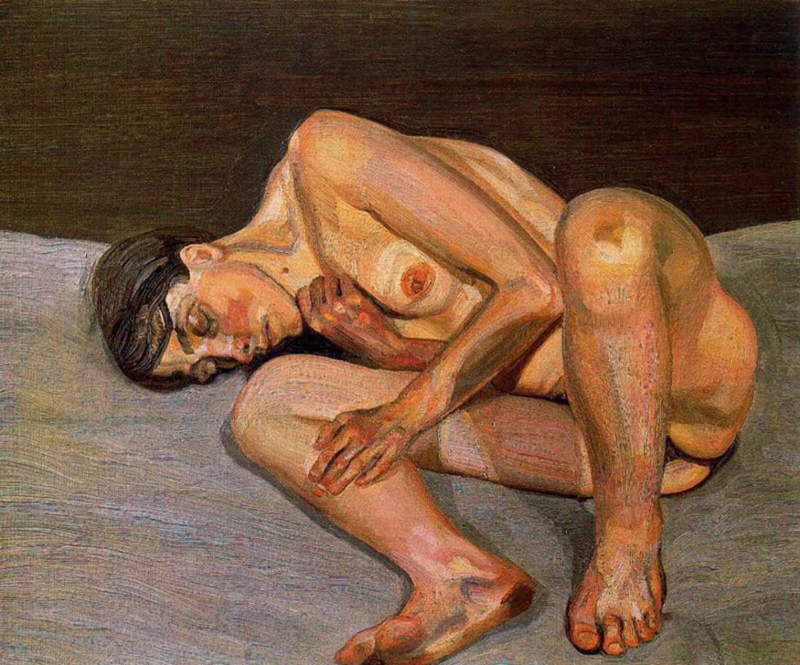 """Люсьен Фрейд (Lucian Freud), """"Маленький портрет обнаженной"""""""