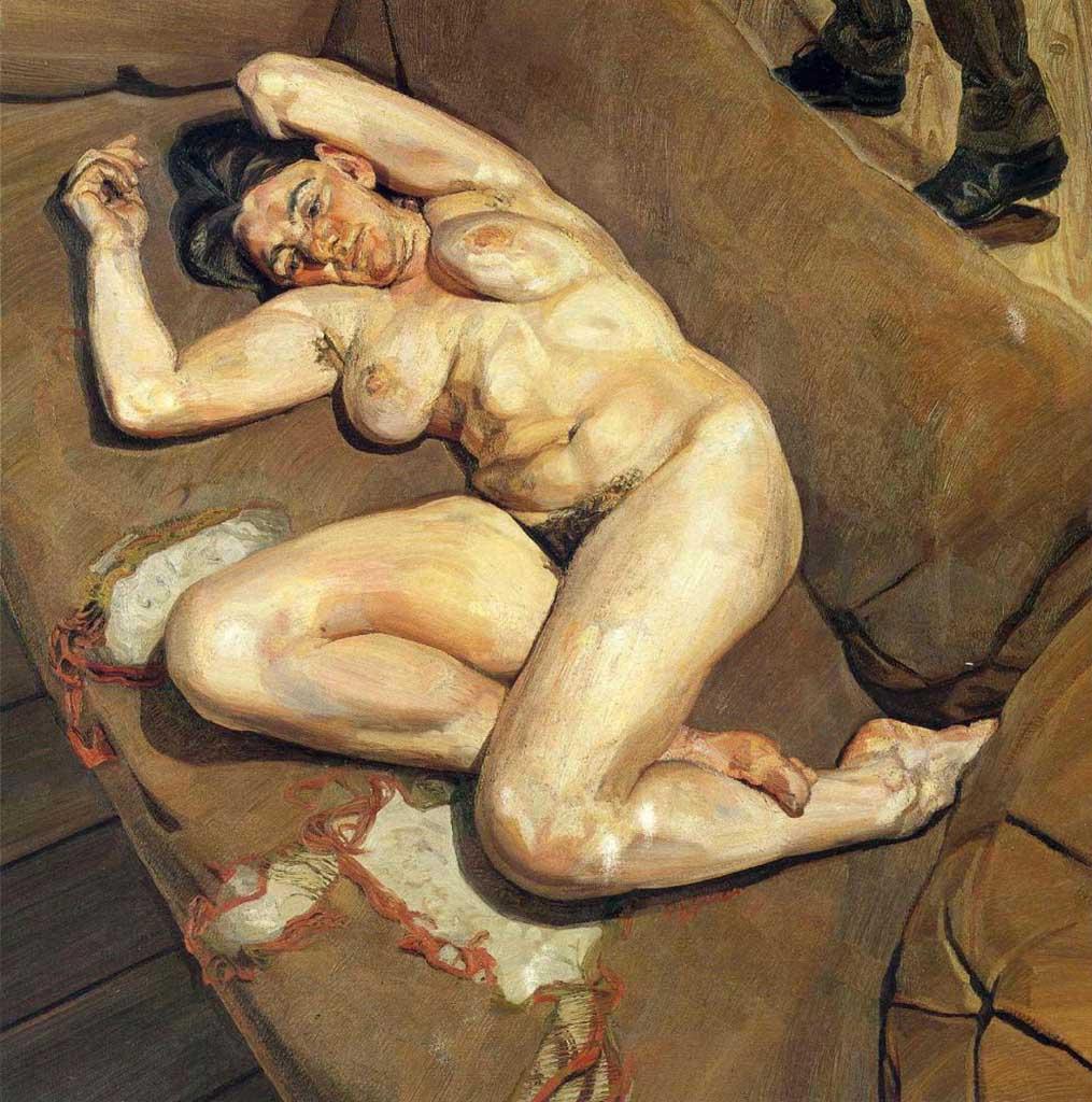 """Люсьен Фрейд (Lucian Freud), """"Портрет обнаженной с отражением"""""""