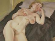 "Люсьен Фрейд (Lucian Freud), ""Обнаженная девушка с яичницей"""