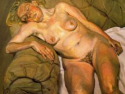"Люсьен Фрейд (Lucian Freud), ""Blond Girl, Night Portrait"""