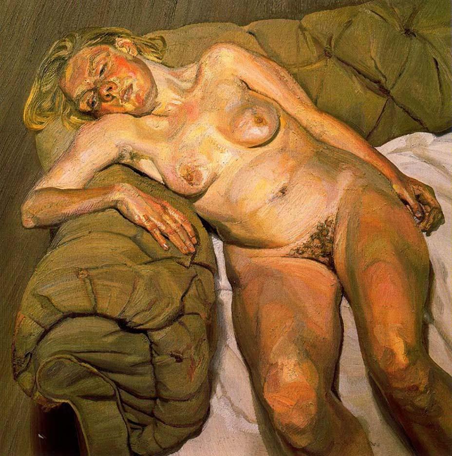 "Люсьен Фрейд (Lucian Freud), ""Blond Girl, Night Portrait"""