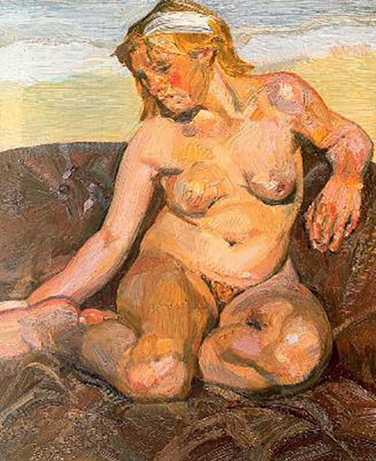 "Люсьен Фрейд (Lucian Freud), ""Girl Holding her Foot"""