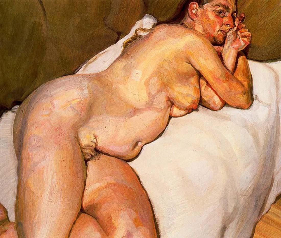 """Люсьен Фрейд (Lucian Freud), """"Обнаженная женщина на диване"""""""